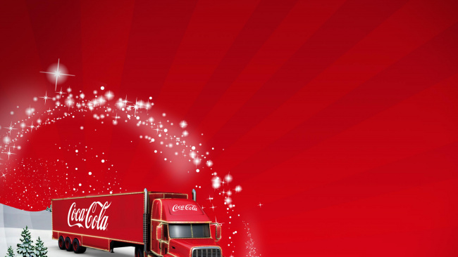 Обои картинки фото бренды, coca-cola, фон, автомобиль