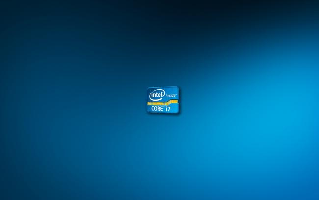 Обои картинки фото компьютеры, intel, фон, логотип