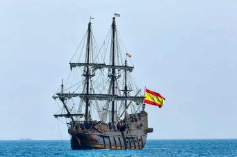 обоя el gale&, 243, n andaluc&, 237, корабли, парусники, паруса, мачты