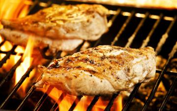 обоя еда, шашлык,  барбекю, мясо, гриль, барбекю, огонь, филе