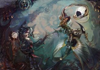 Картинка yin and yang фэнтези существа противостояние инь и Ян