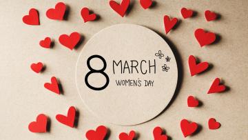обоя праздничные, международный женский день - 8 марта, 8, марта, women's, day, hearts, сердечки