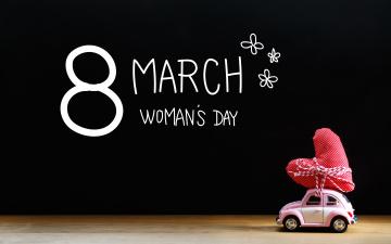 обоя праздничные, международный женский день - 8 марта, heart, happy, 8, марта, сердечки, romantic, women's, day, gift