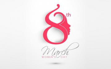обоя праздничные, международный женский день - 8 марта, holiday, date, minimalism, march, 8, calendar, women's, day