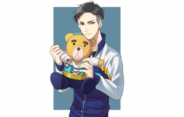 обоя аниме, yuri on ice, otabek, altin