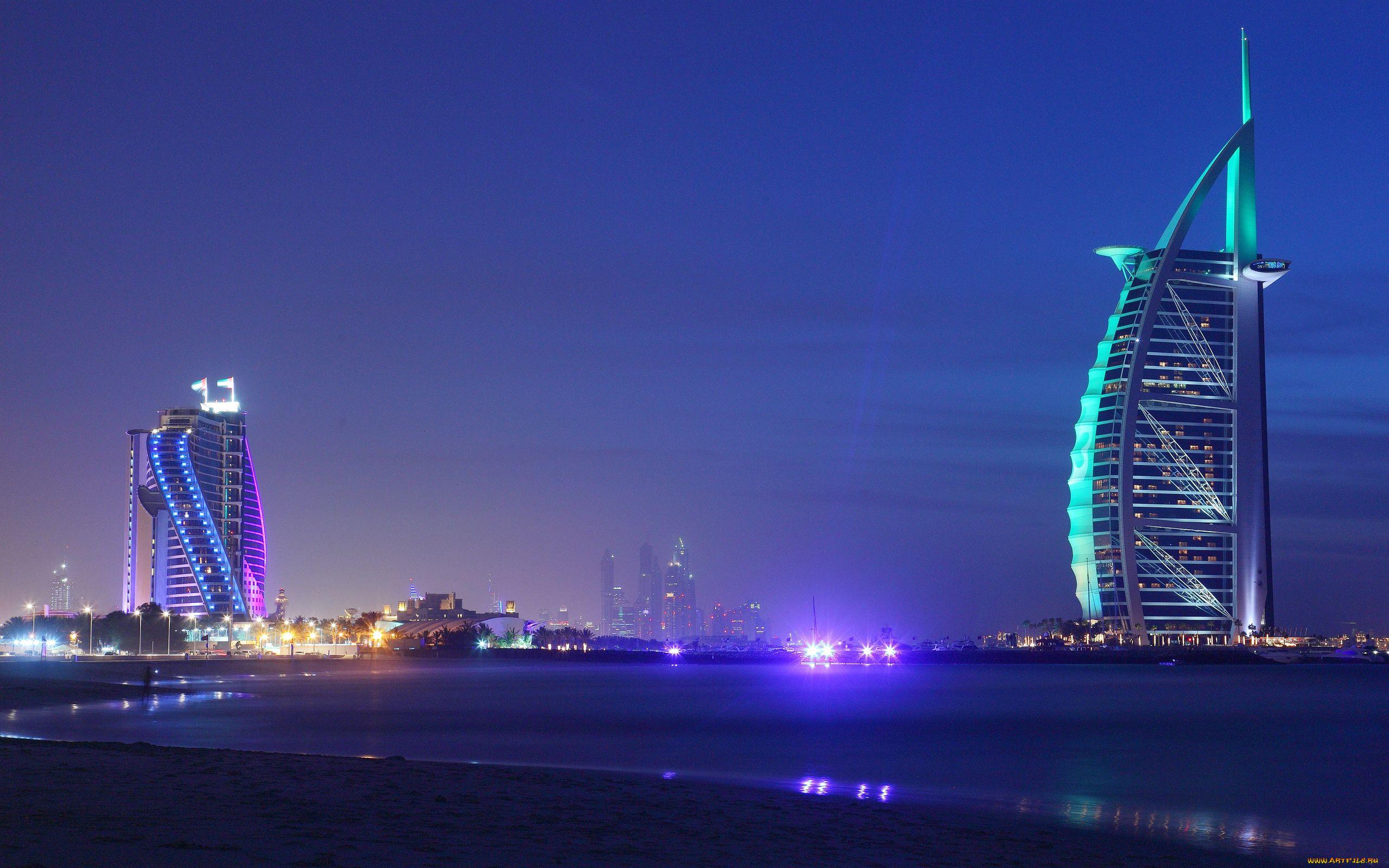 страны архитектура море Объединенные Арабские Эмираты без смс