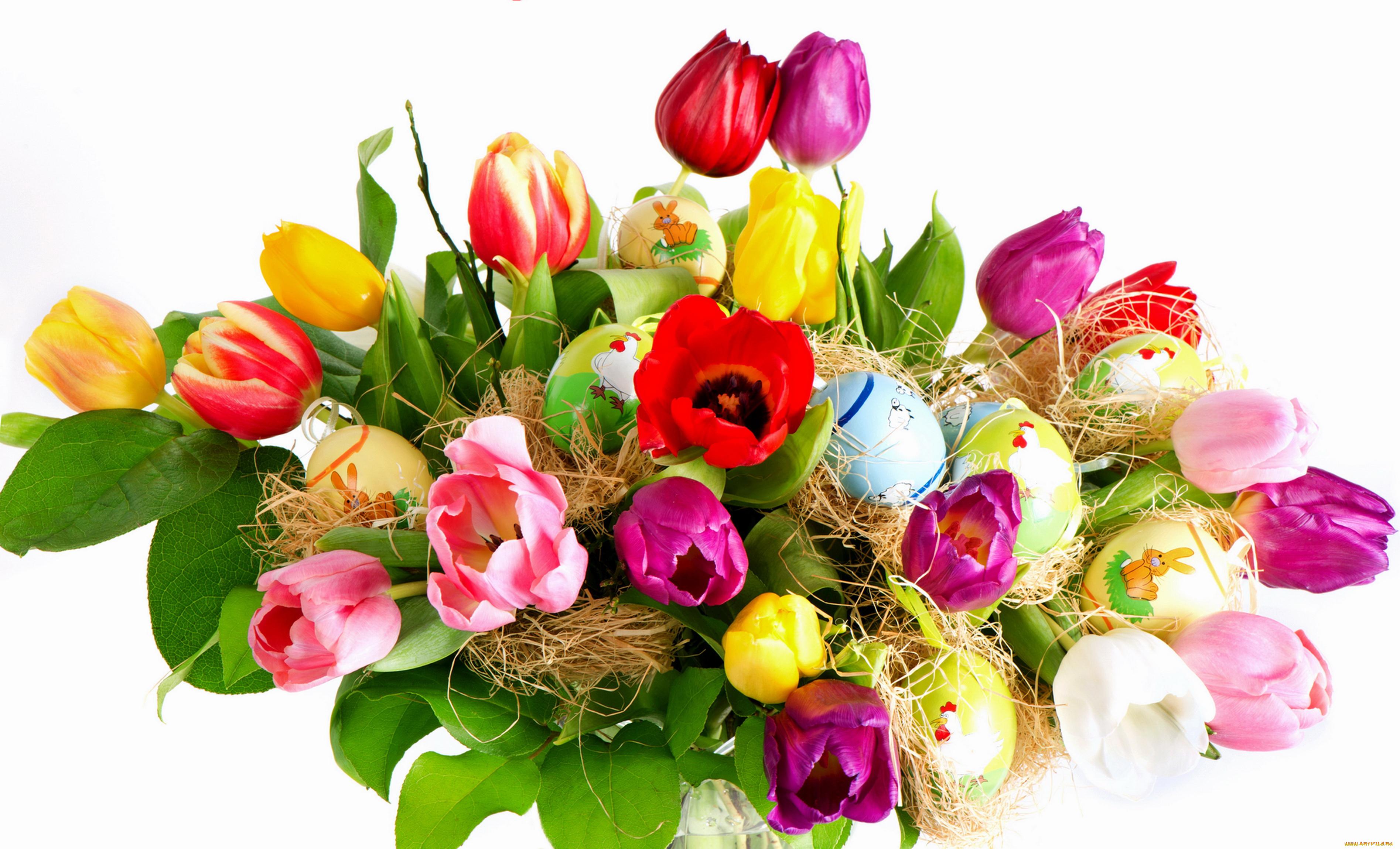 Истории, красивый букет весенних цветов открытка
