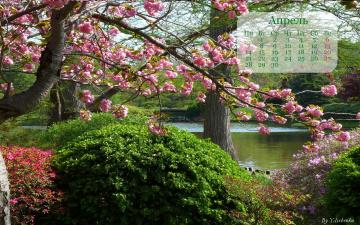 обоя календари, природа, парк