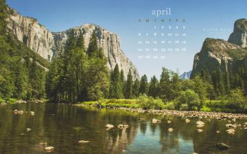 обоя календари, природа, зелень