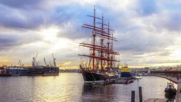 Картинка корабли парусники санкт-петербург река нева парусник седов