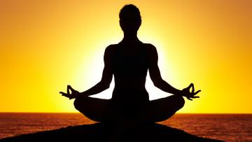обоя разное, люди, медитация, солнце, вечер, поза, лотос