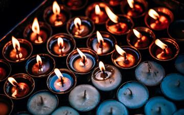 обоя разное, свечи, огоньки