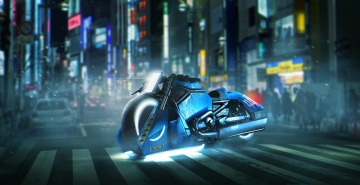 обоя фэнтези, транспортные средства, harley, davidson, v, rod, muscle, film, cinema, movie, blade, runner, 2049, motorbike, bike