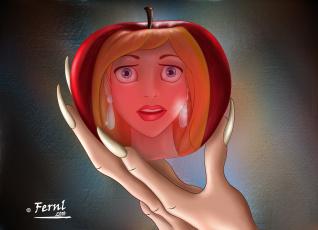 Картинка мультфильмы unknown разное яблоко лицо