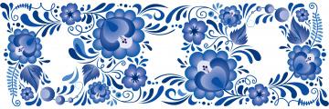 обоя векторная графика, цветы , flowers, стиль, гжель, узоры