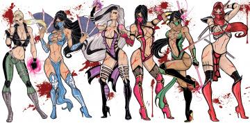 обоя рисованное, комиксы, фон, девушки, униформа, оружие