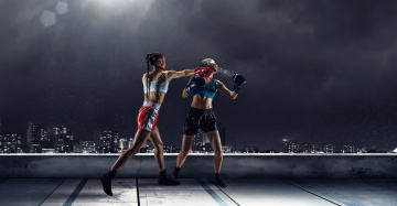 Картинка спорт бокс девушки взгляд фон