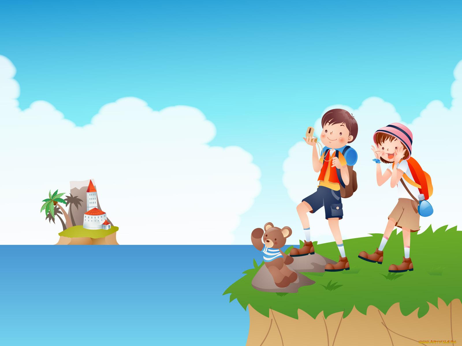 Картинка для детей отдых летом