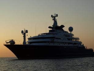 Картинка bill gates octopus yacht корабли Яхты море яхта вечер