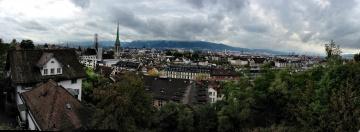 Картинка города цюрих швейцария панорама вид сверху