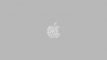 Картинка компьютеры apple фон буквы яблоко