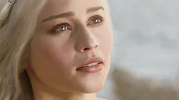 Картинка рисованное кино мать драконов блондинка лицо девушка игра престолов