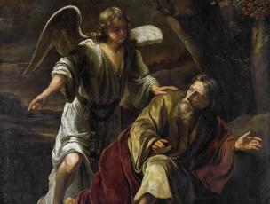 обоя рисованное, живопись, картина, мифология, библейский, сюжет, ангел, фердинанд, бол