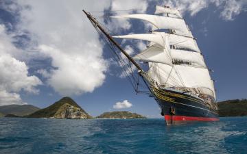 обоя корабли, парусники, паресник