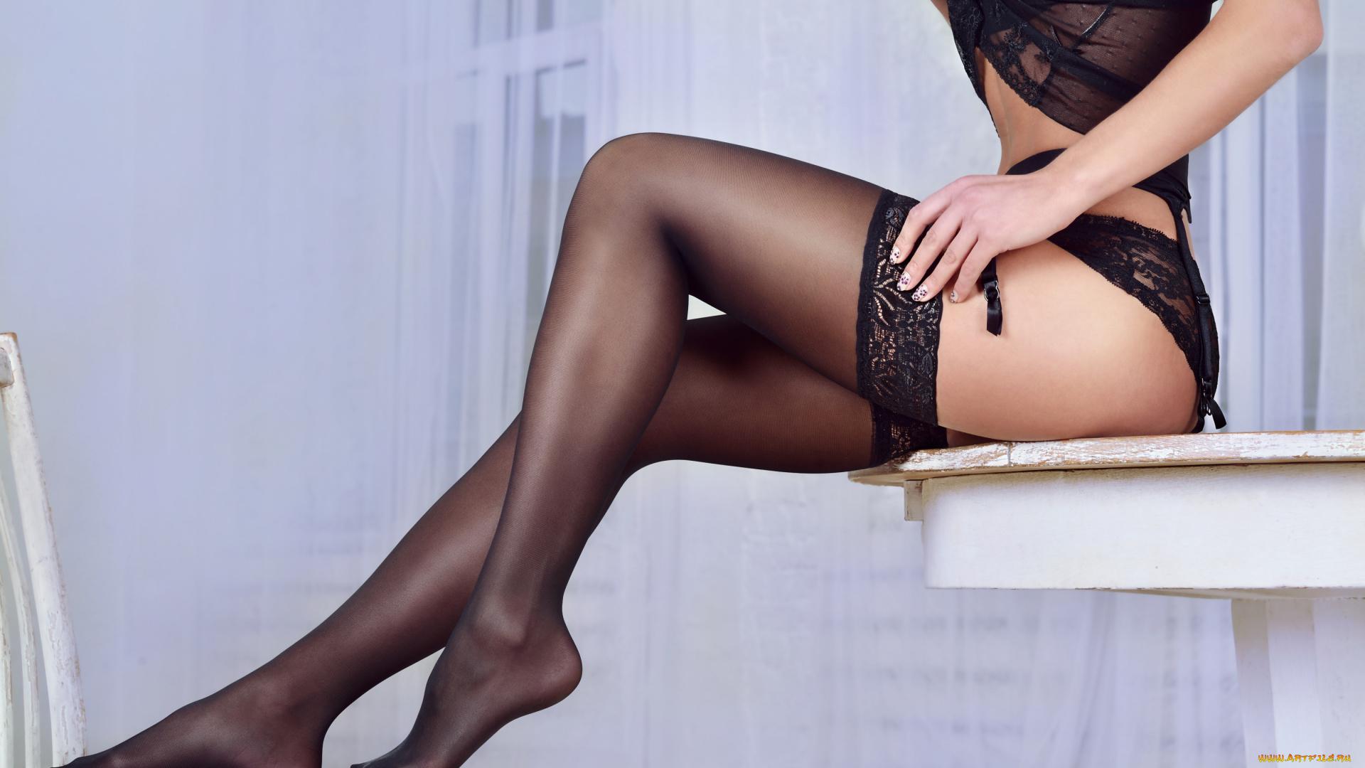 Ножки в чулочках, двойной анал с русской девушкой лилией