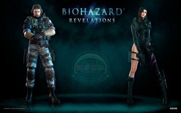 Картинка resident evil revelations видео игры chris redfield jessica sherawat