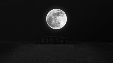 обоя космос, луна, фон