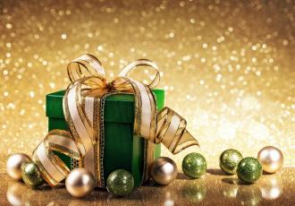 обоя праздничные, подарки и коробочки, лента, бант, коробка