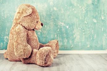 обоя разное, игрушки, мишка, стена, медведь