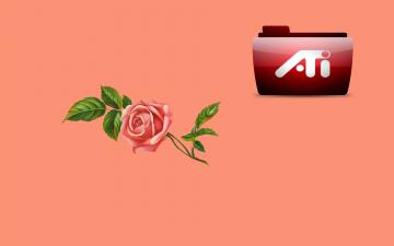 обоя компьютеры, ati, логотип, фон