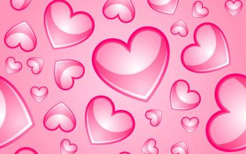 обоя праздничные, день святого валентина,  сердечки,  любовь, розовый, фон, сердечки