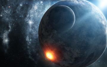 Картинка космос арт взрыв вселенная звезды планеты