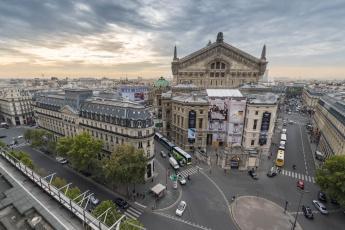 обоя op&, 233, ra garnier, города, париж , франция, опера, площадь