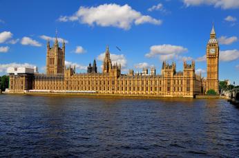 обоя palace of westminster - london, города, лондон , великобритания, парламент, дворец