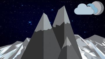 обоя векторная графика, природа , nature, фон, горы
