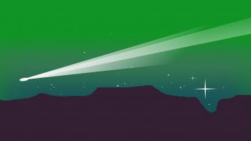 обоя векторная графика, природа , nature, небо, ночь, горы
