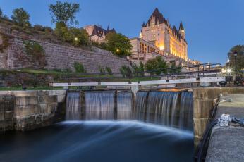 обоя ottawa, города, оттава , канада, дамба, река, храм