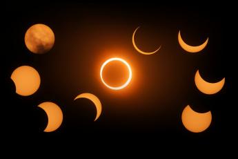 обоя космос, луна, затмение