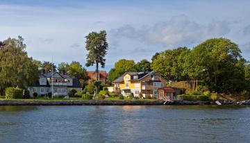 Картинка швеция vaxholm города пейзажи набережная