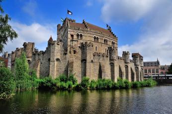 Картинка города дворцы замки крепости замок река