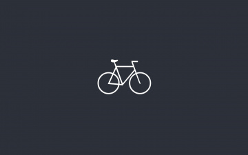 Картинка рисованные минимализм велосипед