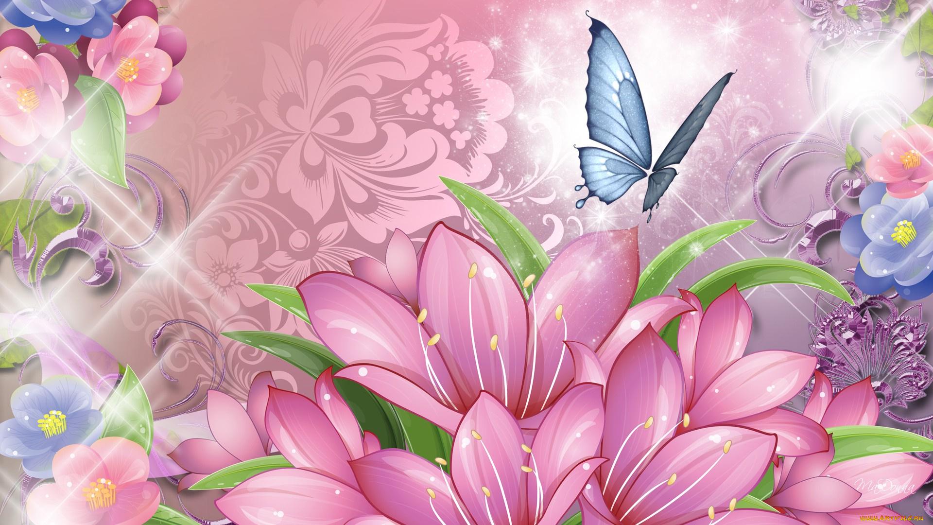 бабочки из лепестков  № 2303876 бесплатно