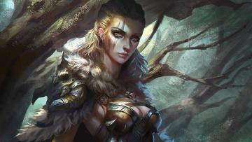 Картинка фэнтези девушки воин фентези девушка арт