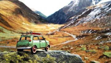 обоя разное, игрушки, машина, камень, скалы, горы