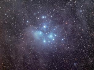 Картинка m45 звёздное скопление плеяды космос звезды созвездия