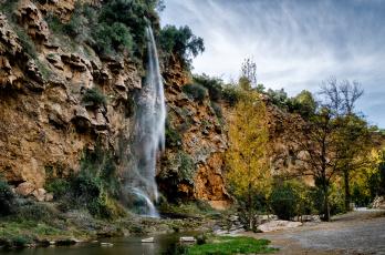 Картинка природа водопады обрыв водопад